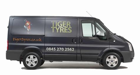 Tiger Tyres Van