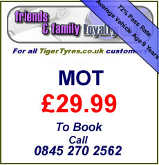 Freinds and Family MOT Service